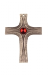 Bronze Cross No. 194 with red stone