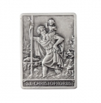 Car plaquette square shape, motif Christopher