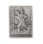 Car plaquette square shape, motif Christopher
