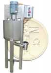 Paste mixer for movable container