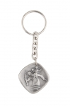 Small key ring with chain and medal