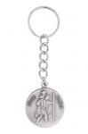 Key ring with chain and medal