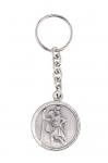 Small key ring with  round shape medal