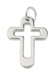 1056 - Jewellery Cross, Stainless Steel, with cut-out