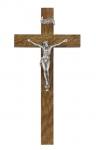 Holzkreuz W 5, Eiche dunkel, Corpus oxydiert