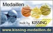 Kissing, Schwimm-Medaillen